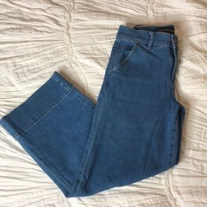Express crop flare jeans
